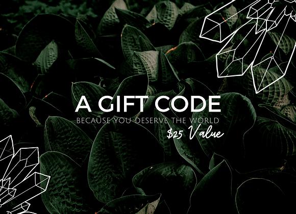 $25 eGift Code