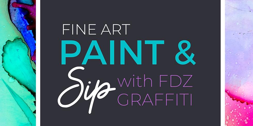 FINE ART PAINT & SIP WITH FDZ GRAFFITTI