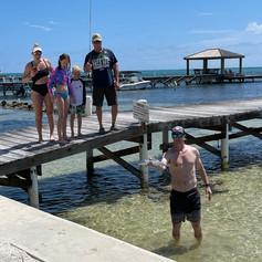 Fishing off Dock