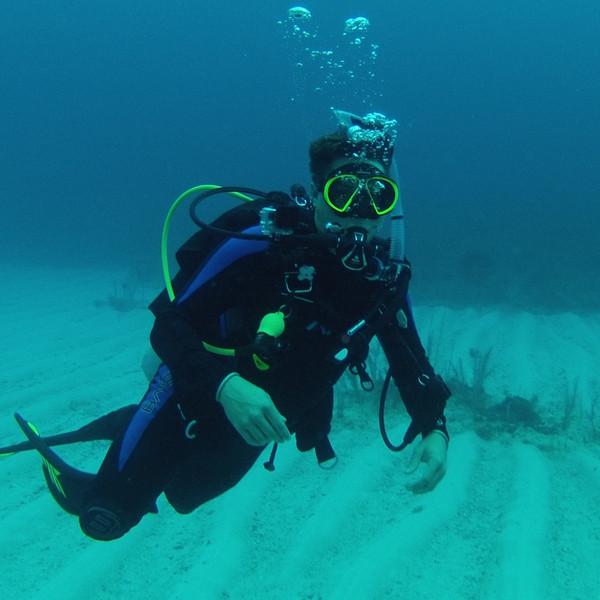 Scuba diving at Hol Chan