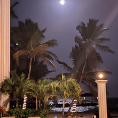 Moon over Lighthouse Beach