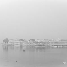 Udaipur Lake Palace in Fog