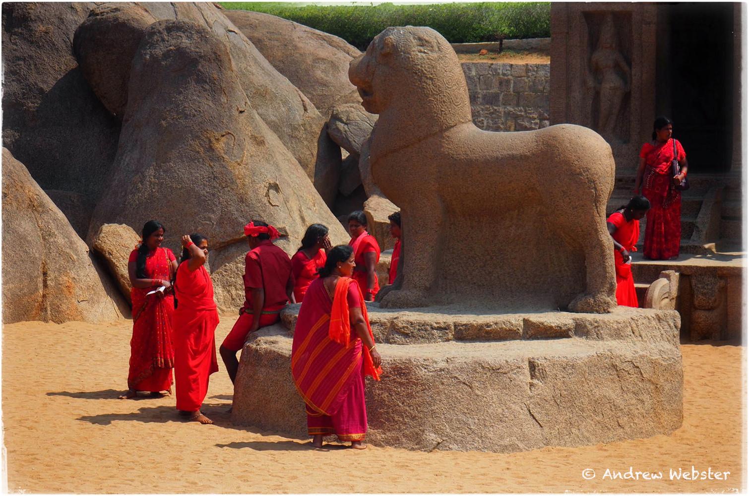 Pilgrims at Mahabalipuram