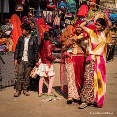 Women shopping in Jaisalmer