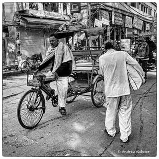 Rickshaw Driver in Old Delhi
