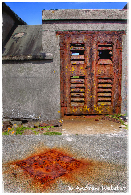 Bunker Door and Drain