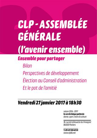 Assemblée Générale du CLP le vendredi 27 janvier 2017 à 18h30.
