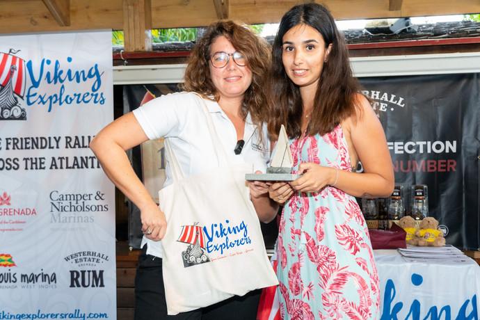 Carlota Texeira, PR with marina manager