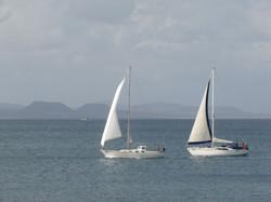 The two vessels en route