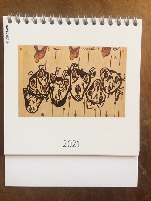 2021 Table calendar - Arte di Pino