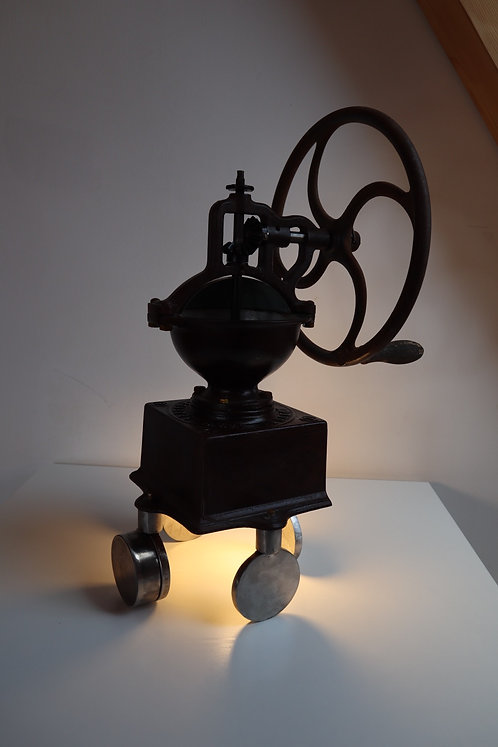Peugeot coffee grinder lamp