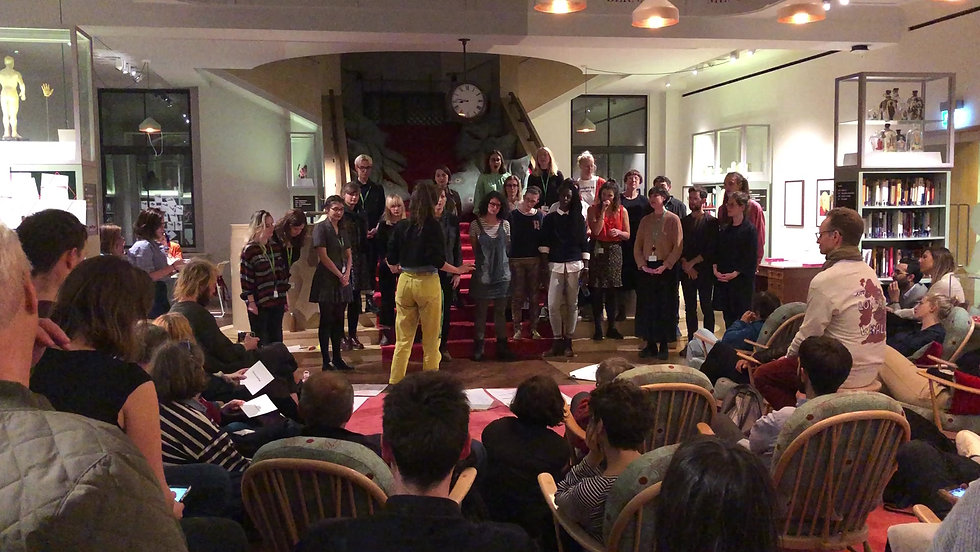 F* Choir perform 'Love for Human Kind' at Wellcome Collection Daylighting Festival