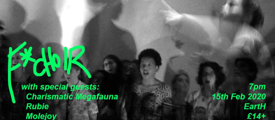 15. February: F*Choir + Charismatic Megafauna / Rubie / molejoy
