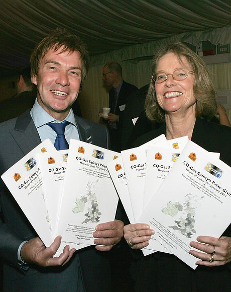 Charlie Mullins with CO Gas Safety president Stephanie Trotter prizegiving event 2011.jpg