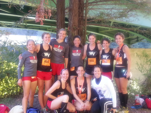 WVTC Women take 2nd at Humboldt Redwoods Half Marathon