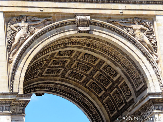 Close up of the arc