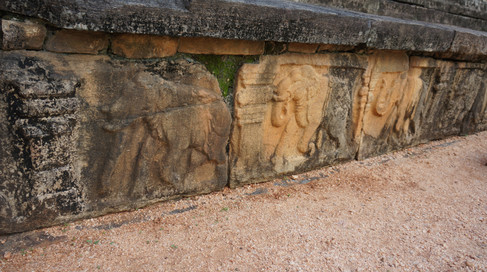 Elephant Carvings on Audience Hall