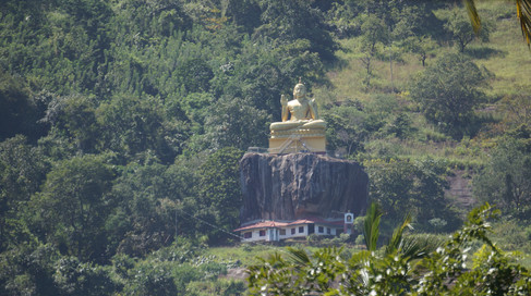 Giant Buddha on the cliffside