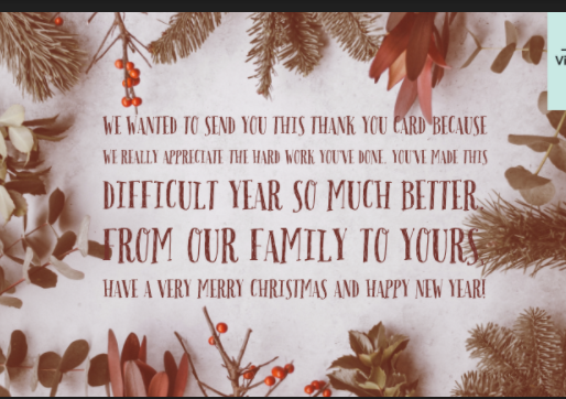 Free downloads: Thank you cards and season's greetings