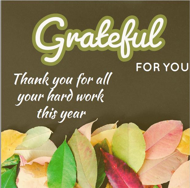 Thank you: Fall