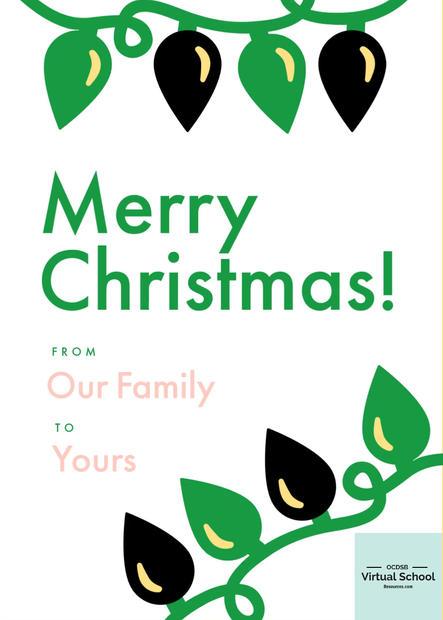 Blinking Merry Christmas