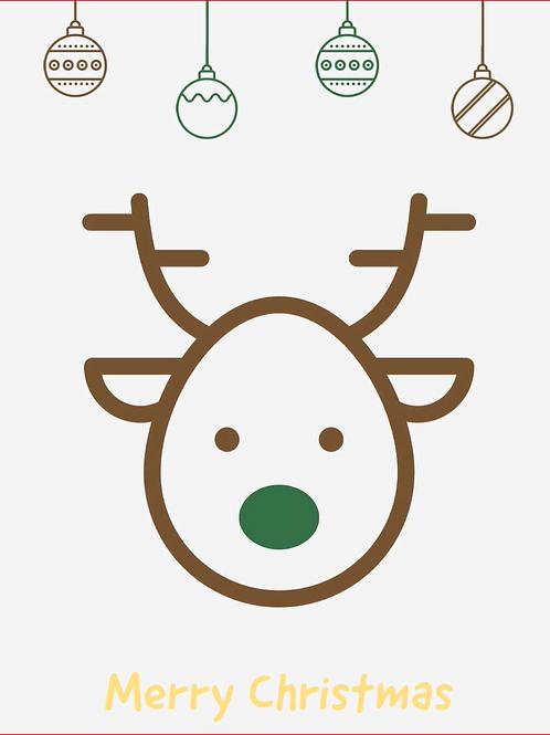 Rudolph Flashing Card