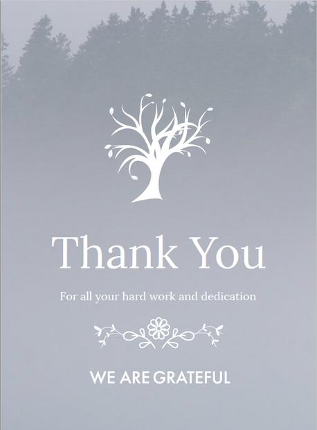 Thank You: Tree