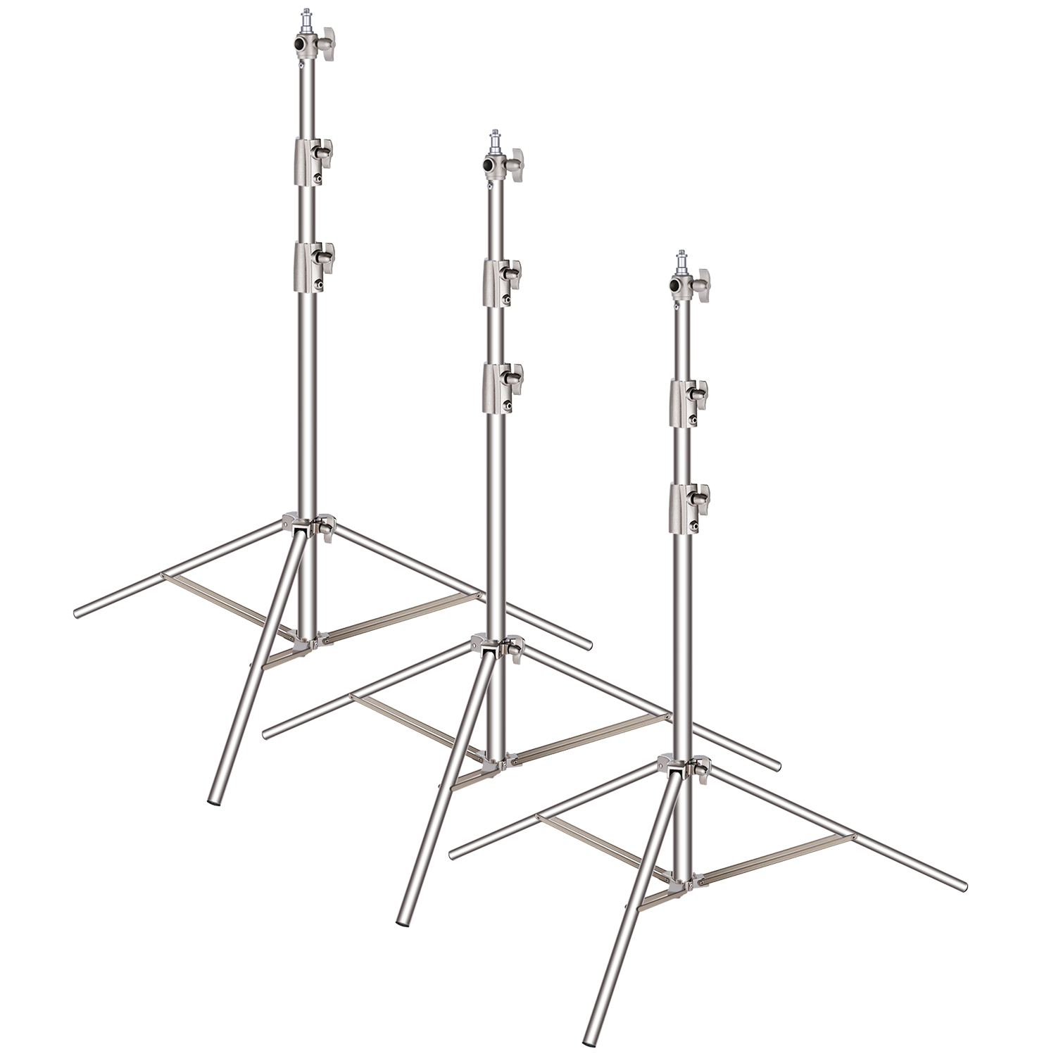 Heavy Duty Stainless Steel Light Stands.