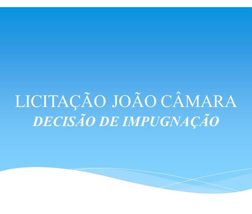 LICITAÇÃO JOÃO CÂMARA
