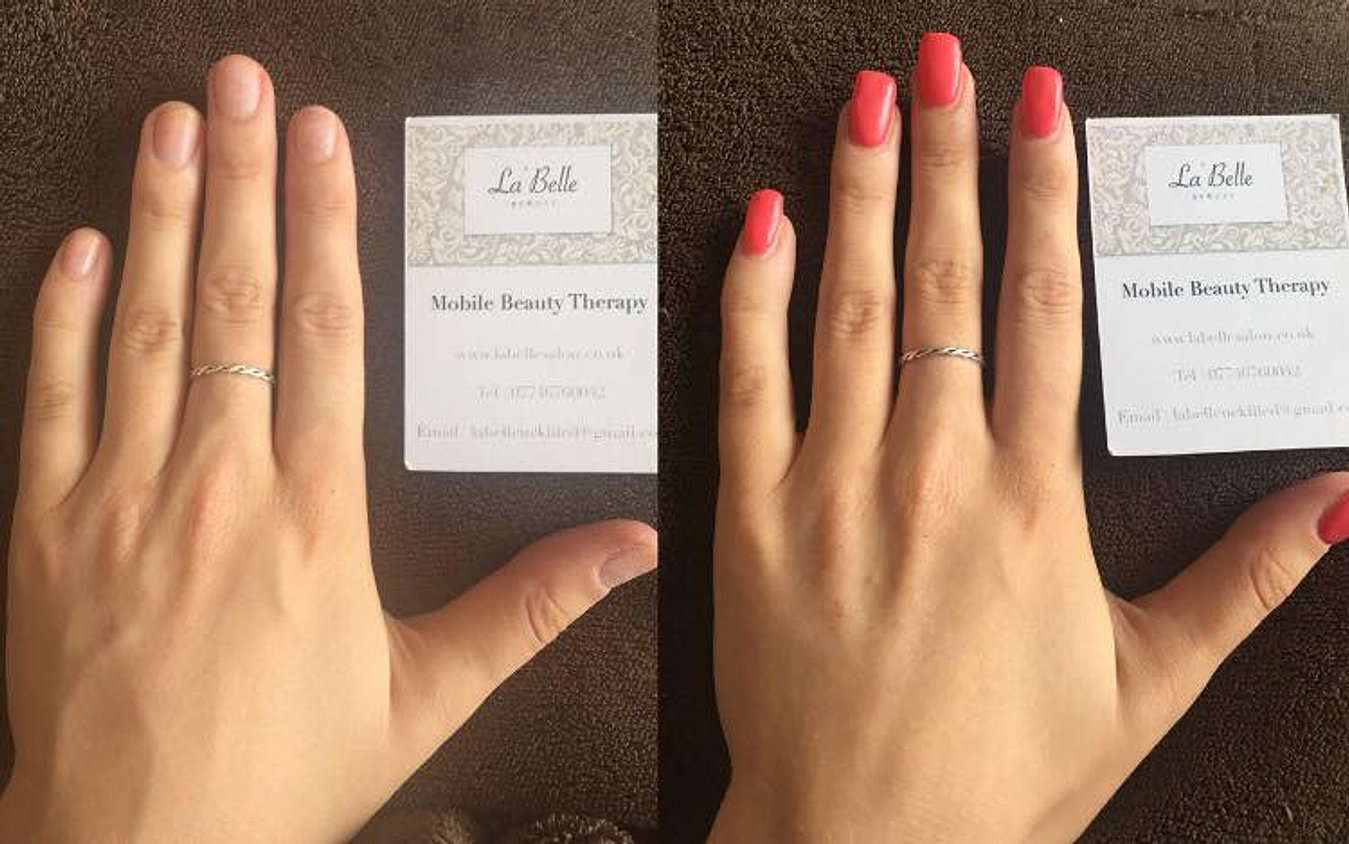 Gel Nail Extensions Eastsus La Belle Mobile Beauty Salon Gallery