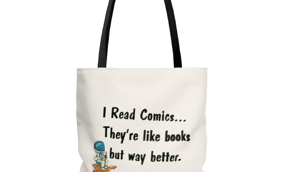 I Read Comics Tote Bag
