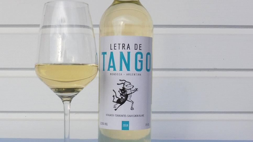 Letra de Tango - blanco