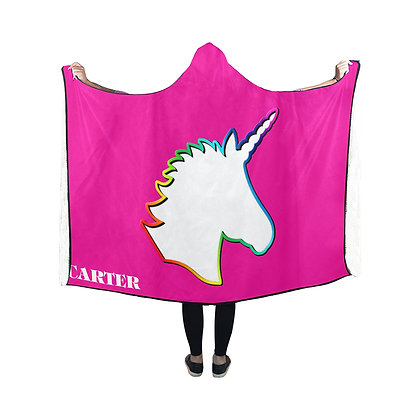 Team Unicorn hooded blanket