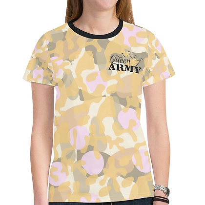 "Queen Army Ladies""Cosmetic Camo"" Tee"