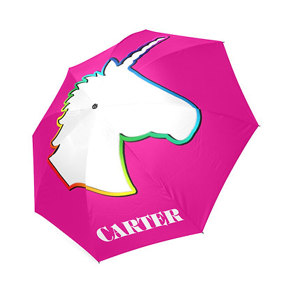 Team Unicorn Custom Name Umbrella