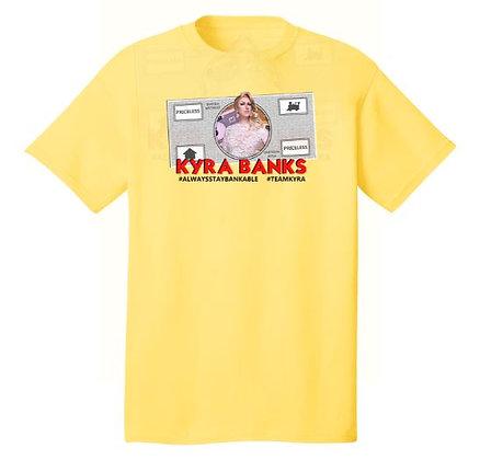 "Kyra Banks ""Dollar Bill"" Unisex Cotton Tee"