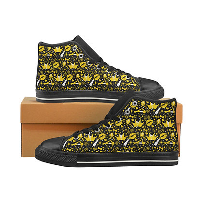 Mens Confetti Print High tOP