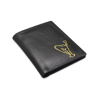 "MGA Mens ""Burst"" Black Leather Wallet"