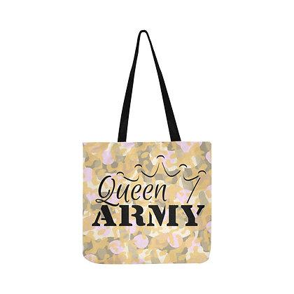 """Queen Army """"Cosmetic Camo"""" Reusable Bag"""