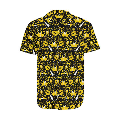"""Confetti"" Mens Short Sleeve Button Down Shirt"
