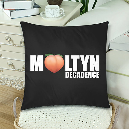 "Moltyn Decadence ""Just Peachy"" Throw Pillow"