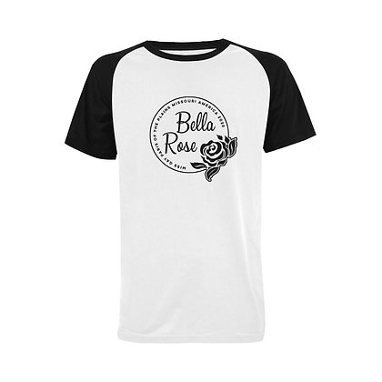 "Bella Rose ""Paris"" Raglan Tee with Custom Name"