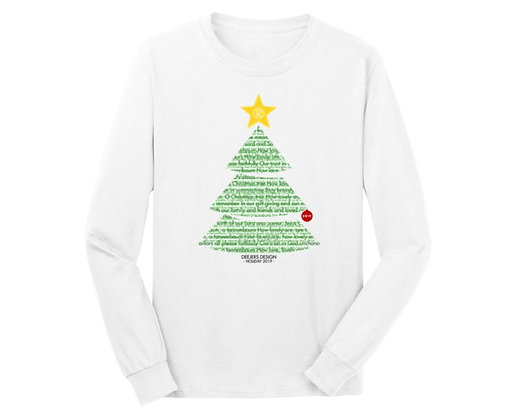 "Deejers Design ""Rudolph"" Holiday 2018 Unisex Long Sleeve Tee"