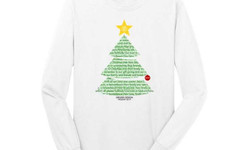 """Deejers Design """"Rudolph"""" Holiday 2018 Unisex Long Sleeve Tee"""