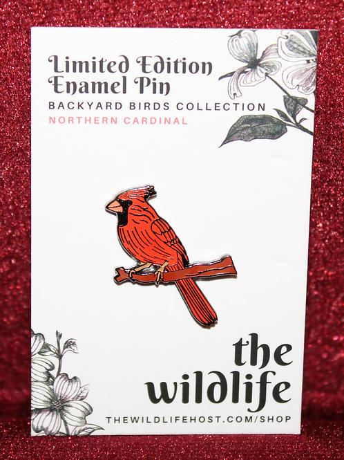 Northern Cardinal Enamel Pin