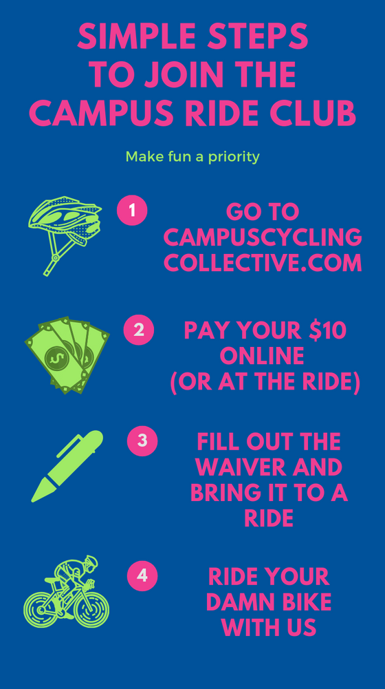 Campus Ride Club Rides Again in 2019