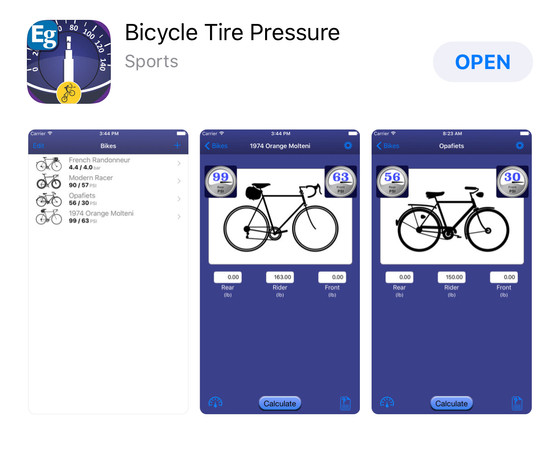 Review: Tire Pressure App