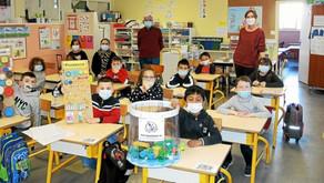 À Lanester, les élèves de Joliot-Curie ont été sensibilisés à la collecte de bouchons