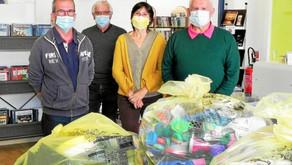 443 kg de bouchons en plastique collectés à la médiathèque de Roudouallec