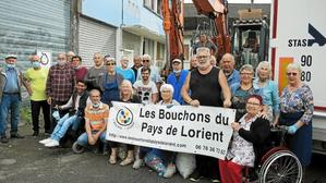 16 tonnes pour l'association Les Bouchons du pays de Lorient